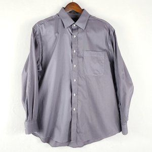 Nordstrom Classic Fit non iron grey dress shirt
